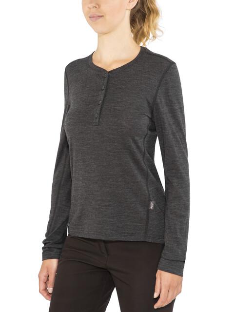 Lundhags W's Merino Light LS Henley Shirt Grey Melange
